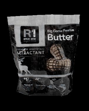 Big Game Peanut Butter premium whitetail attractant. Peanut Flavored.